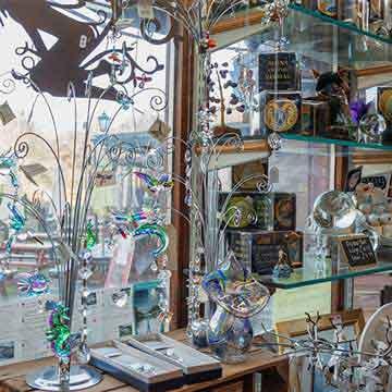 cider press glass light catchers and vases