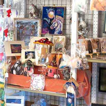 wye valley crafts prints and gifts display