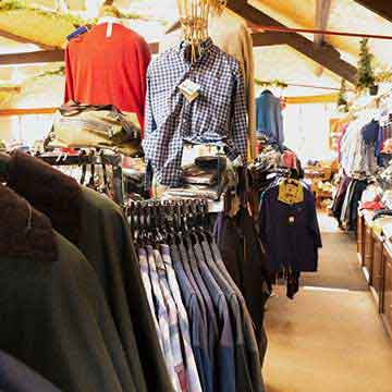 mill shop menswear, shirts, coats and jumpers