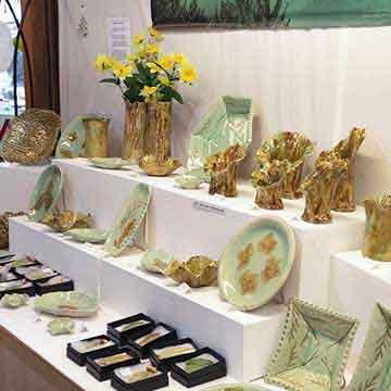 wye valley crafts glazed ceramic plates and vases