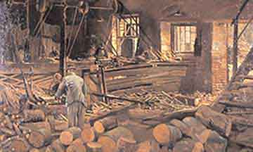 mill story old saw mill illustration