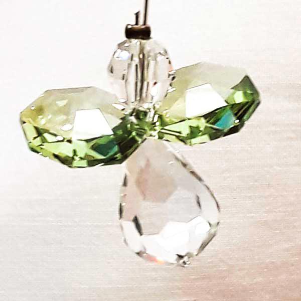 peridot pale green guardian angel swarovski crystal light catcher