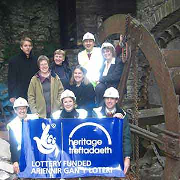 volunteers for Overlooking the Wye heritage lottery project