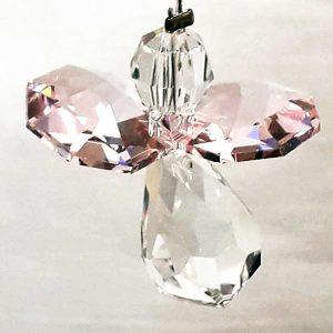rose pink guardian angel swarovski crystal light catcher