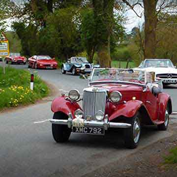 classic car line up highlight at rally event