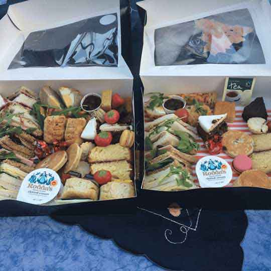 afternoon tea delivery review showing two tea boxes