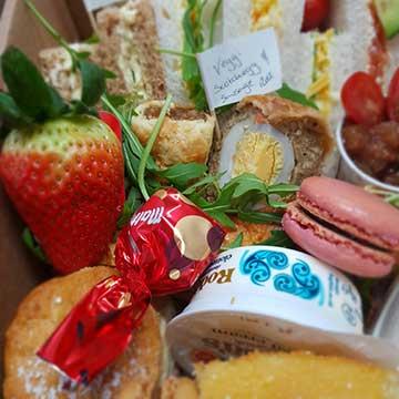 vegetarian treats afternoon tea box