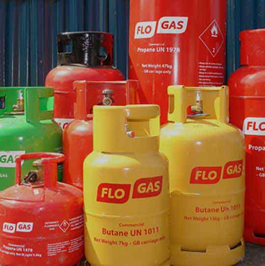 Flogas butane and propane gas bottles service at abbey mill