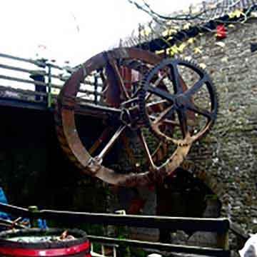 abbey mills historic water wheel reinstated